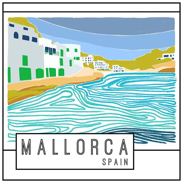 I had the best conversation the other day with a guy from Spain about the island of Mallorca. . Immediately after, I looked up flights, hotels and already started trying to plan a trip until I looked at my bank account. . So I decided to feed my #wanderlust by illustrating it instead.