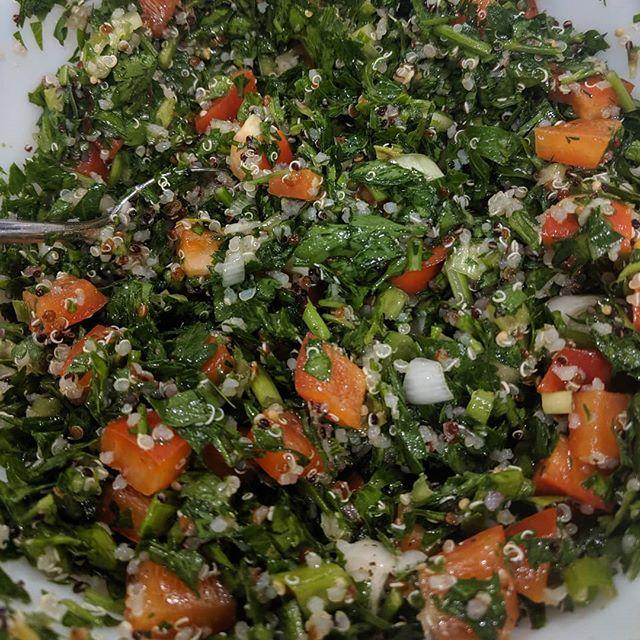 Quinoa Tabouli. A few ingredients go a LONG way