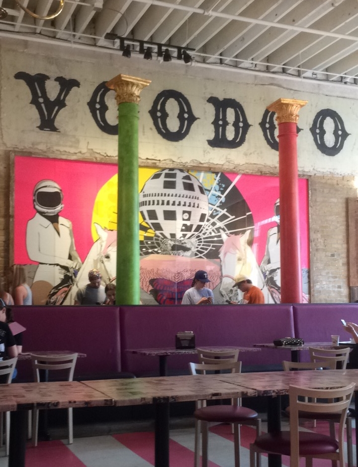 Speaking of donuts, I went to Voodoo Donut and had an amazing Oreo donut called the  Dirt Doughnut  that I highly recommend. Their space is so gorgeous, too. I love the Portland and Denver locations, but this one might be my favorite!
