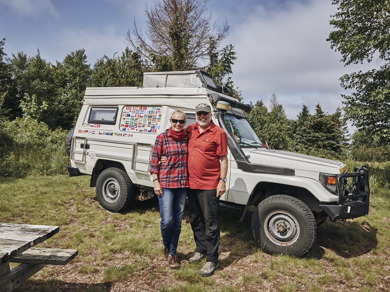 Brigitta & Paul - Die beiden Weltreisenden aus Illnau haben wir vor knapp 10 Jahren in Kenia kennen gelernt. Getroffen haben wir uns dieses Mal im Five Islands Provincial Park in Nova Scotia, Kanada.Wir wünschen euch eine erlebnisreiche uns wunderschöne Reise und freuen uns bereits jetzt auf ein Wiedersehen an der Westküste der USA.