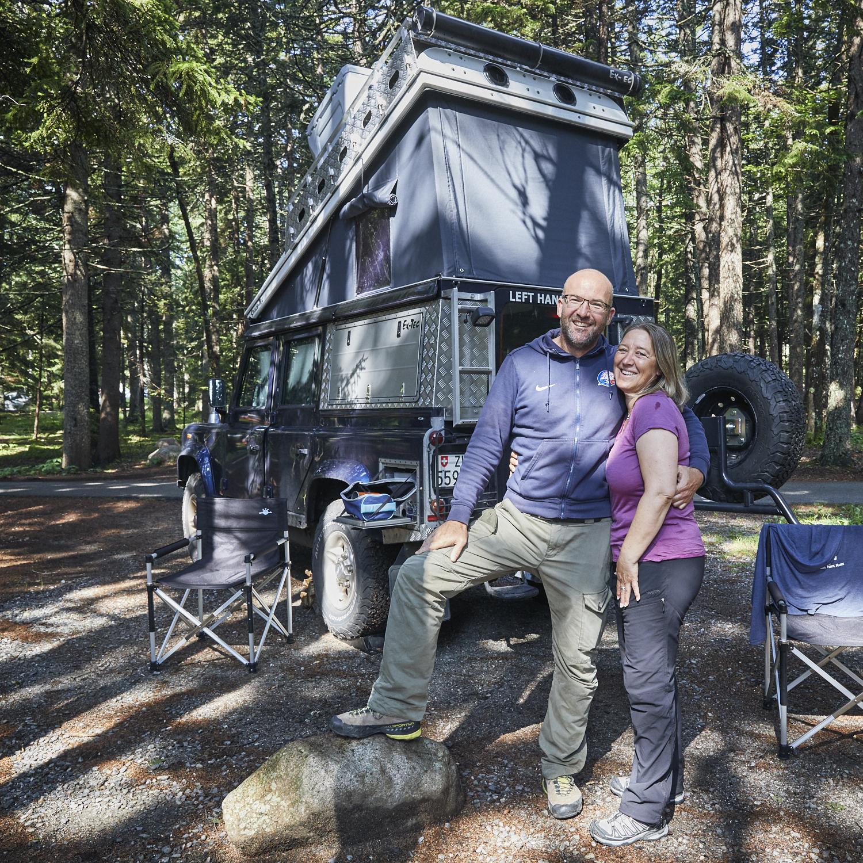 Martin & Daniela - Haben in drei Monaten die USA von der West- zur Ostküste mit ihrem Land Rover bereist. Getroffen haben wir die beiden im Acadia National Park. Danke für die guten Tipps! Gute Heim- & Weiterreise! Aloha! :-)