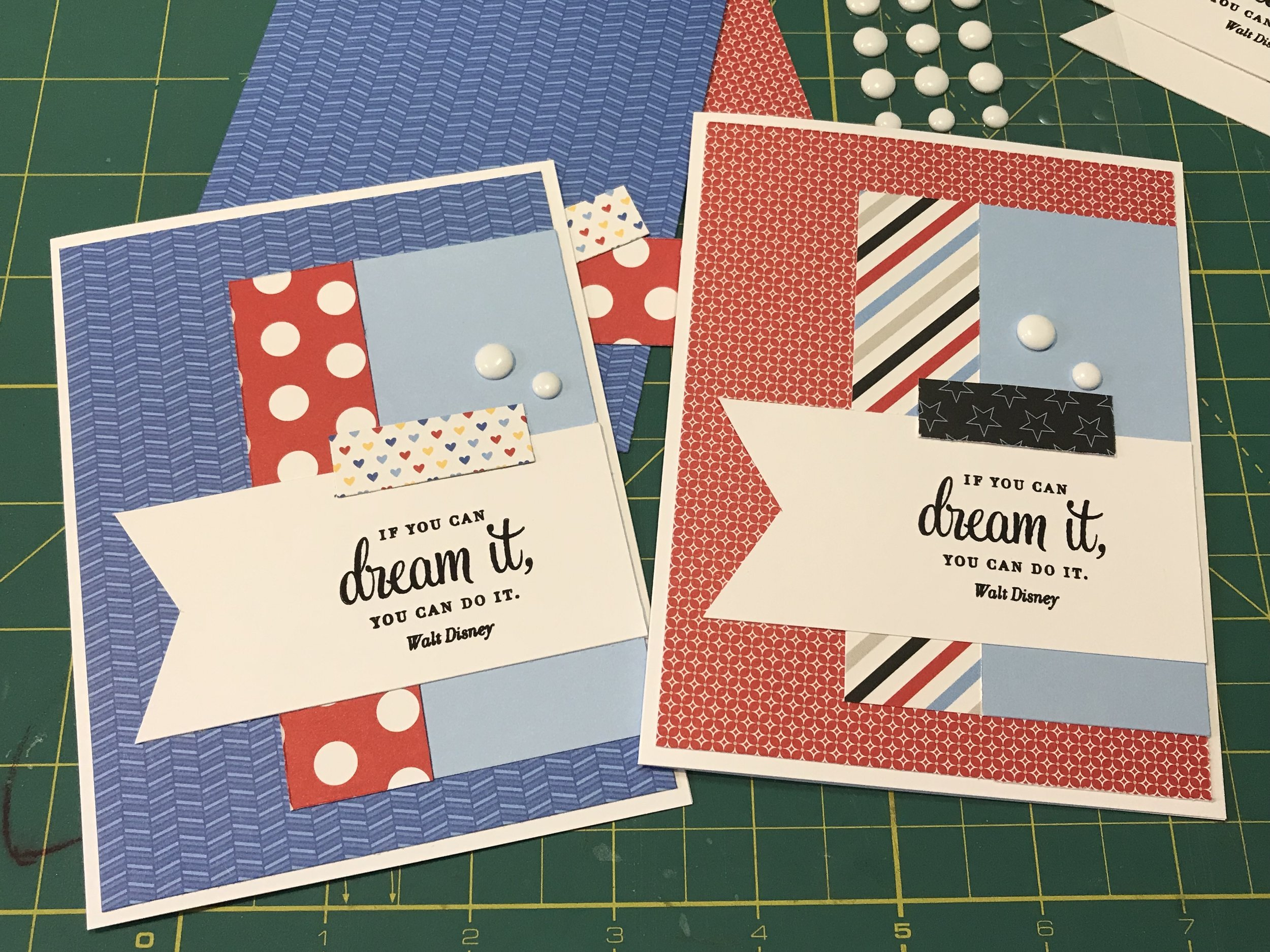 """This is what happens when I """"freelance"""" and use the opposite side of the paper to give the card a different look."""