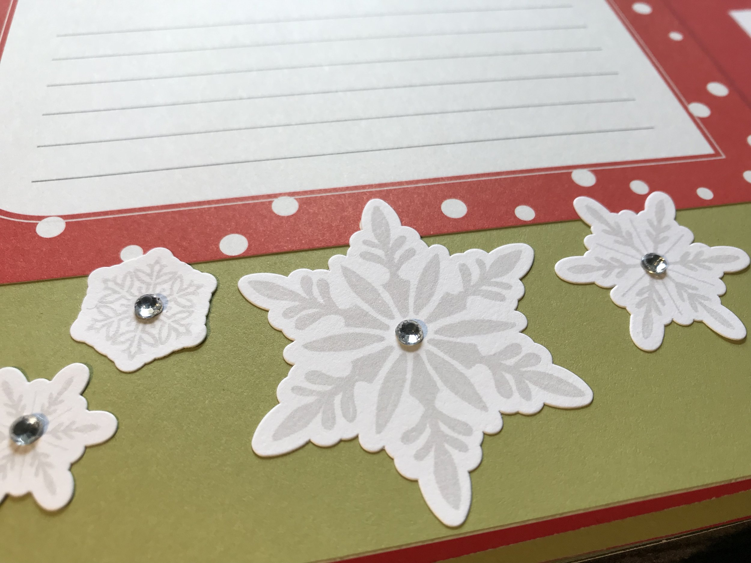 The addition on the Bitty Sparkles adds some whimsy to the snowflake stickers.
