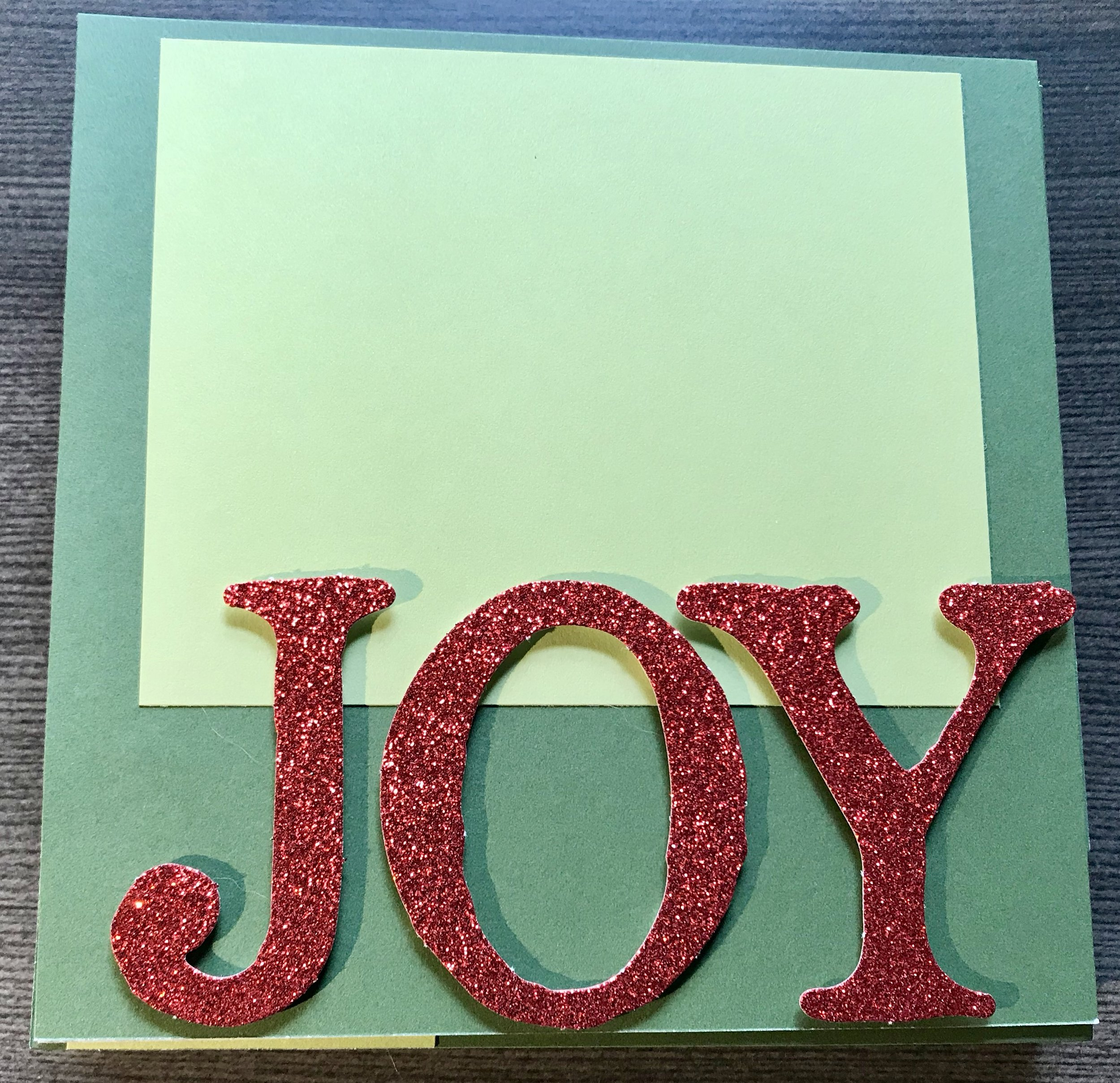 Lighting on this one is off but the last page of the album is highlighted with these gorgeous red glitter letters - also part of the Complements pack.