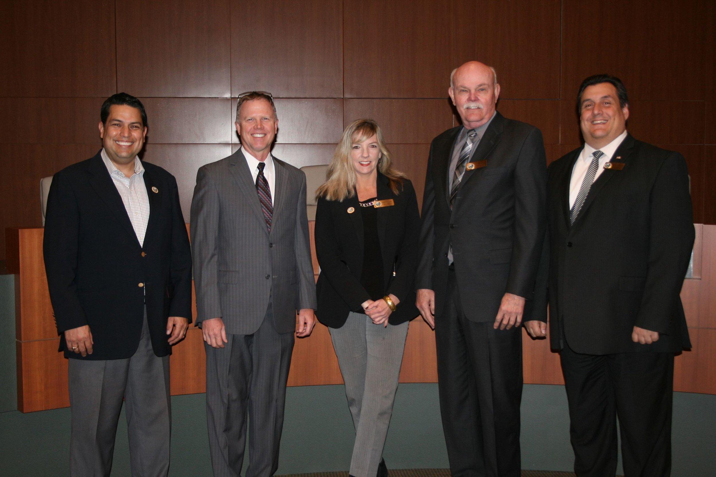Planning Commission Members(Above) Daniel Robertson, Mark McQuaid, Anne Figueroa, Jim Eakin, John Christopoulos