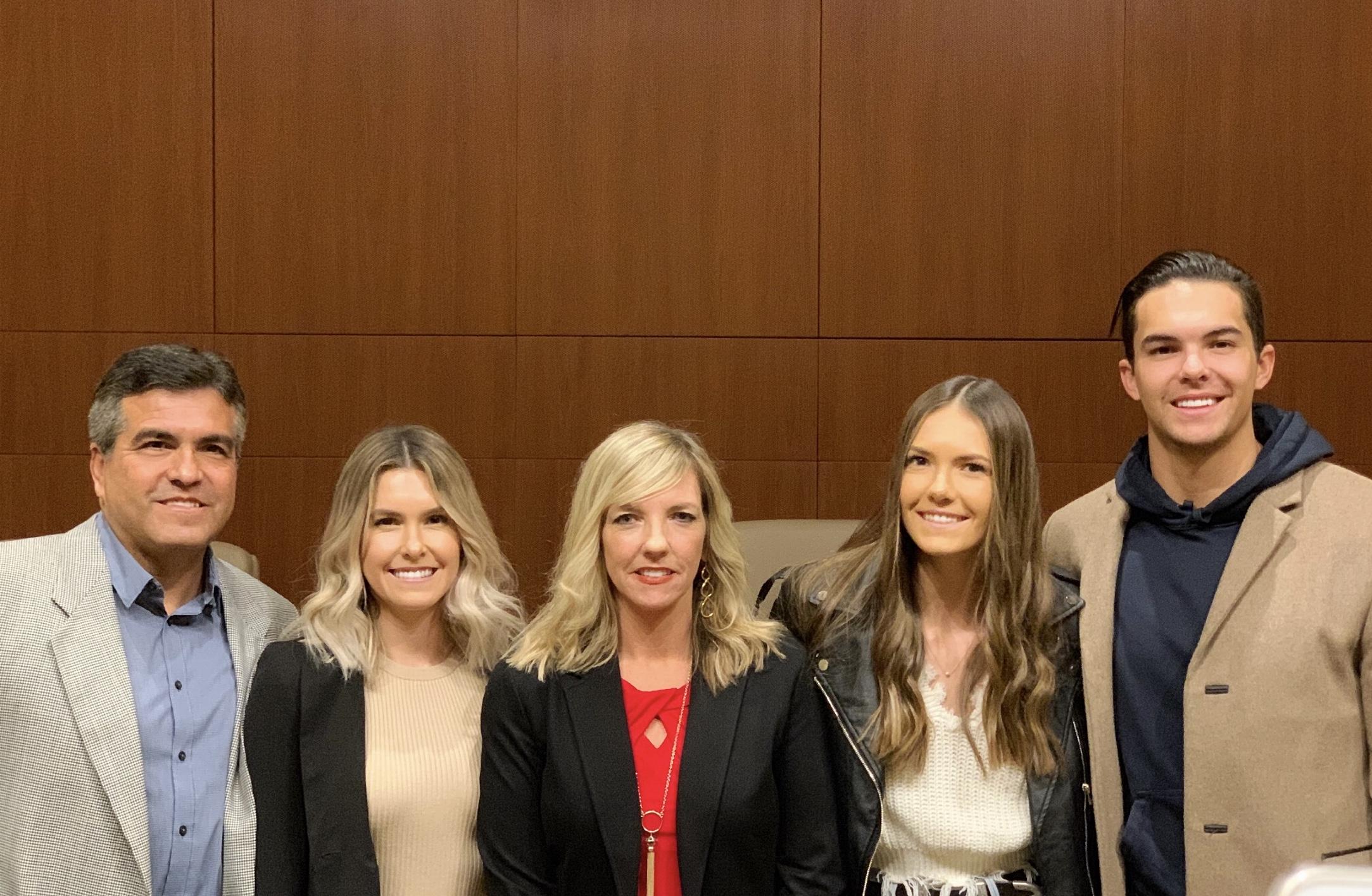 Anne with her husband Dan, and 3 children, Amanda, Caroline, and Patrick.