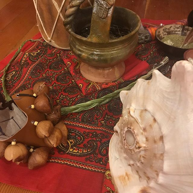 Cupping Level I students are in day 2 of their training, learning about gua sha, also known as scraping. They've also been able to practice moxibustion—photo 2 shows some tools for moxa, including tiger and lion warmers and big rolls filled with mugwort.