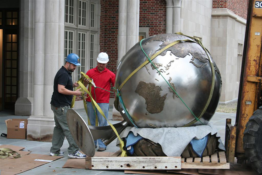 University of Richmond, 8' Globe Sculpture