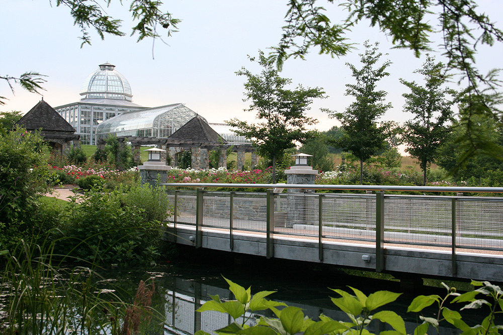 The Lotus Bridge at Lewis Ginter Botanical Gardens