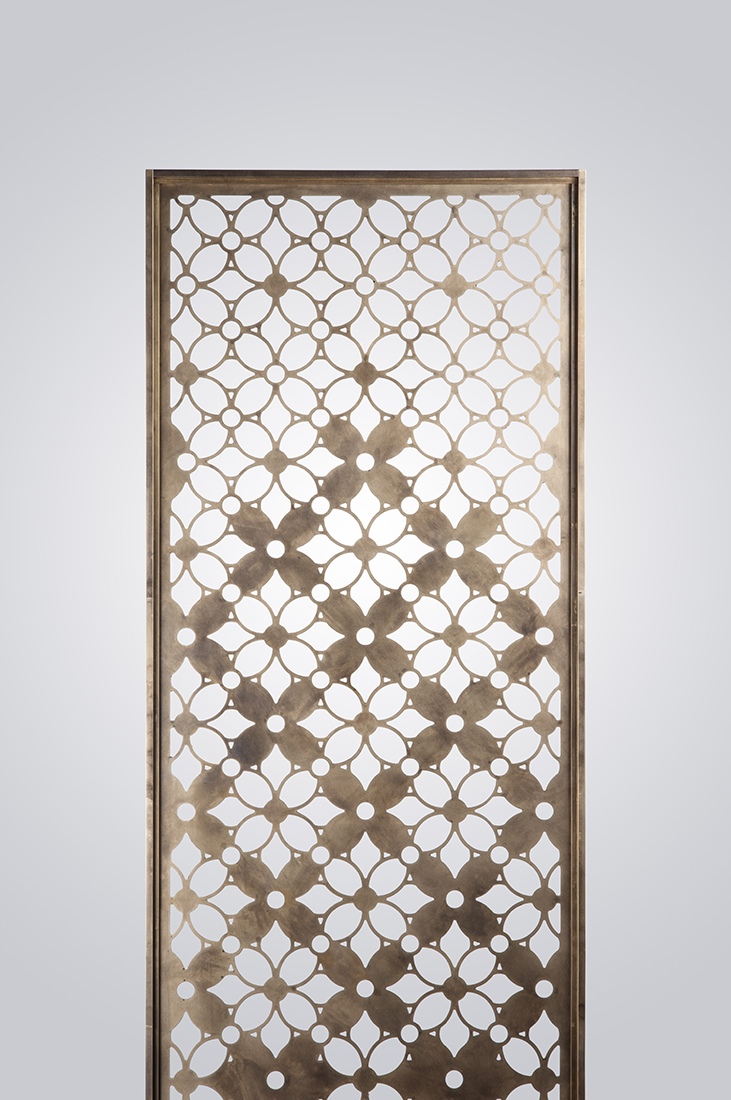 Brass Pocket Door Screen