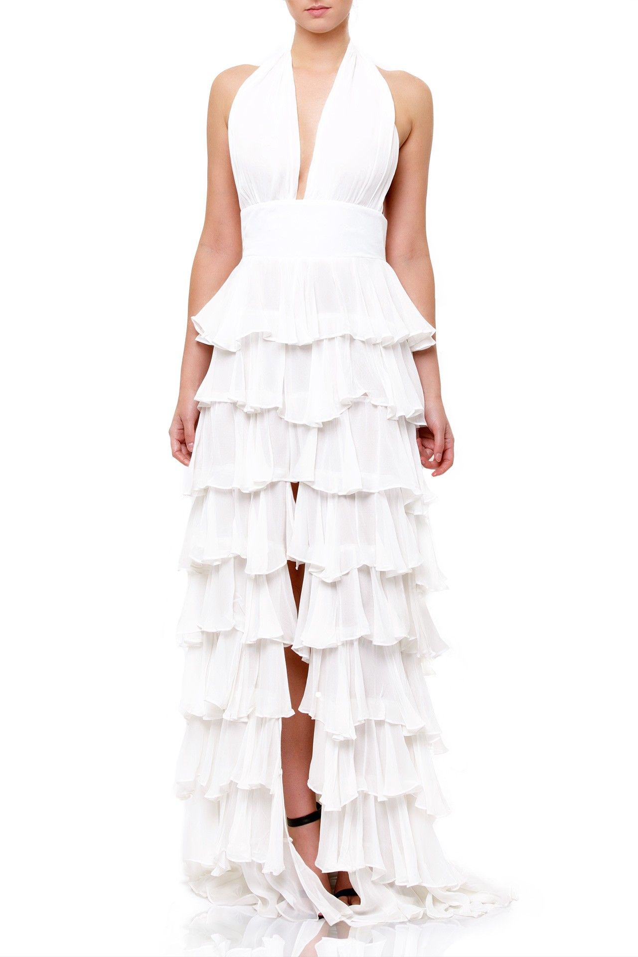 OUT - Trade in your ruffles for a long and silk dress. A versatile staple for day or night.