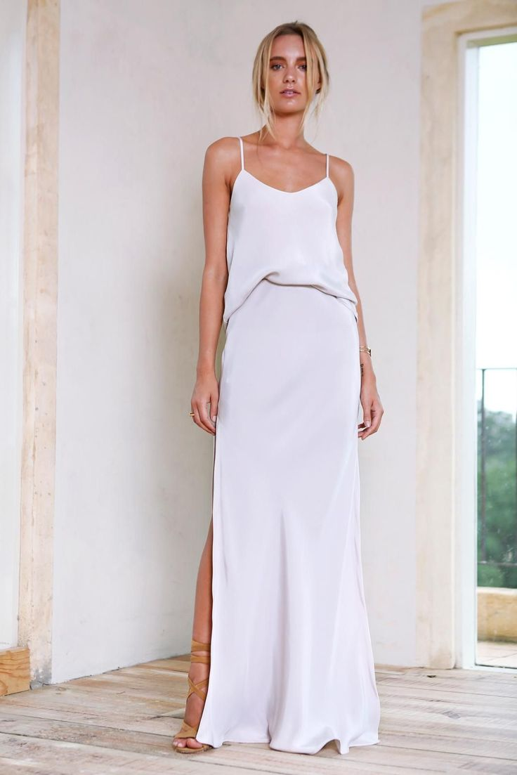 IN - Long Silk dresses are perfect for the minimalist wardrobe. Every girl needs one in her wardrobe, for any AM or PM engagements.Silk is timeless and it feels lightweight and luxurious on the skin.