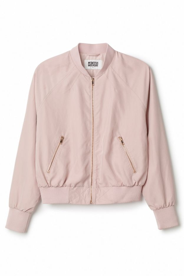 OUT - A few years ago, bomber jacket filled up everyone's closets and were generally worn with anything.