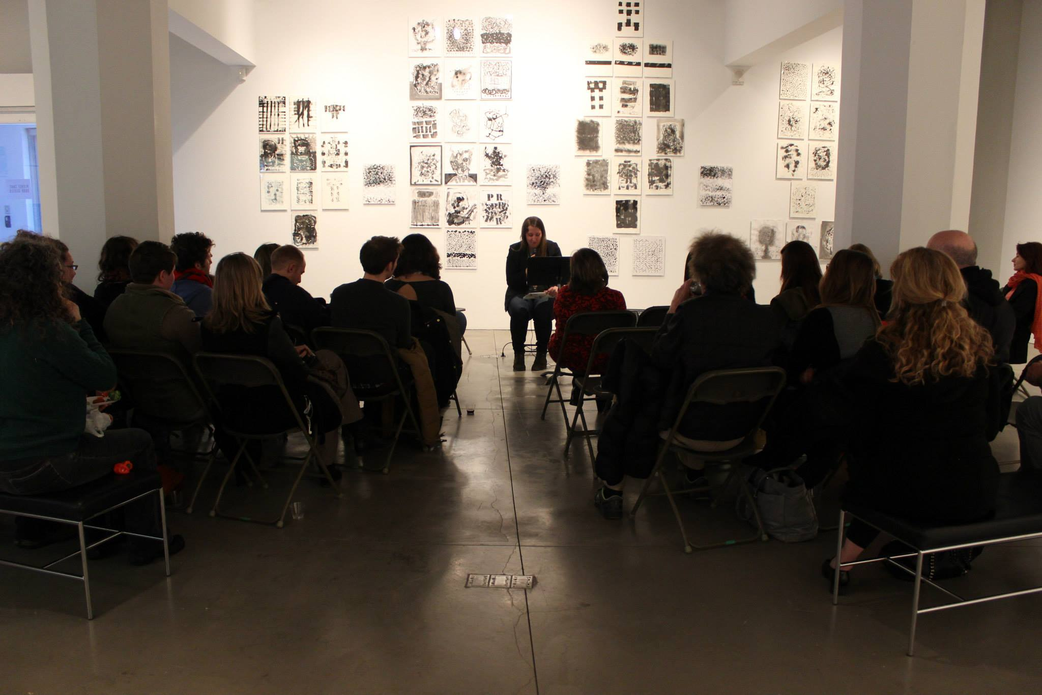 Jessica Poli reading at The Point of Contact Gallery, Syracuse, NY.