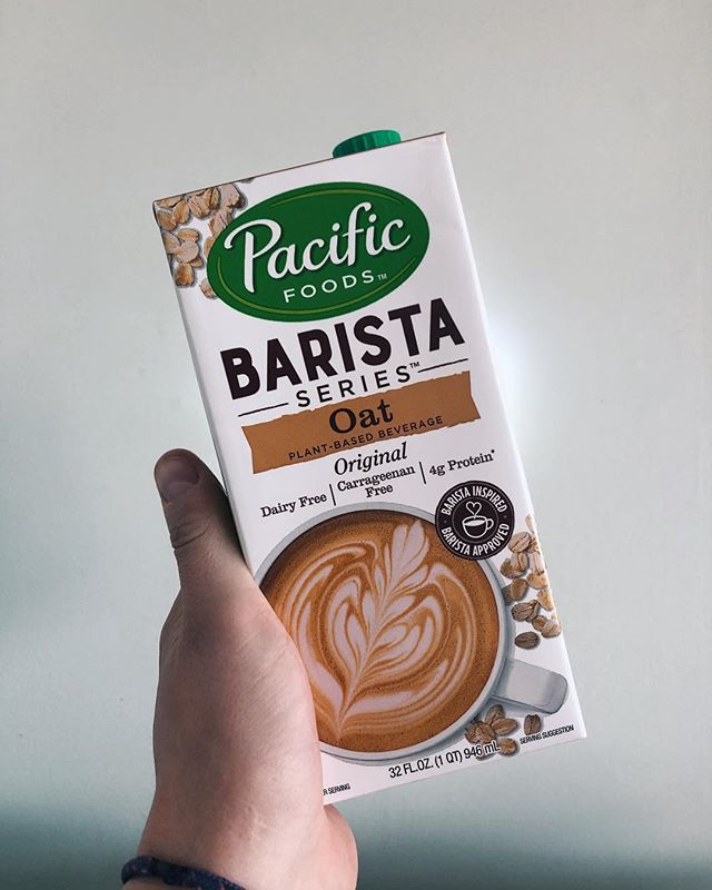 OAT MILK IS HERE! We think it's the best non-dairy milk around, and the Pacific barista series is designed specifically for coffee! We now have oat, soy, and almond for milk alternatives!