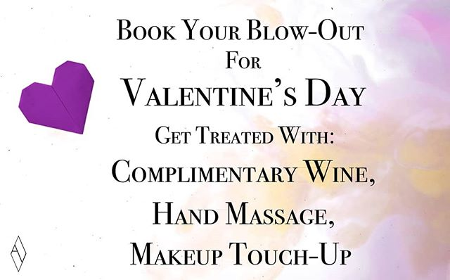From Feb 14 - 16, BOOK YOUR Blowout and GET TREATED with: Complimentary Wine, Hand Massage, and a Makeup Touch-Up! Call-in to our store (780 433-7115) or visit our website (link in bio) Book TODAY! . . . #hair #yeghair #edmontonhair #hairsalon #hairstyles #edmontonsalon #yeg #yeggers #igyeg #avenuesalon #avenuesalonedmonton #aveda #edmonton #avedaedmonton #sherwoodpark #sherwoodsalon #sherwoodparkhair #sherwoodhair #modernsalon #livedinhair #hairdresser #worldofhairdressers #edmontonstyle #yegstylist #edmontonfashion #edmontonhair #behindthechair #licensedtocreate
