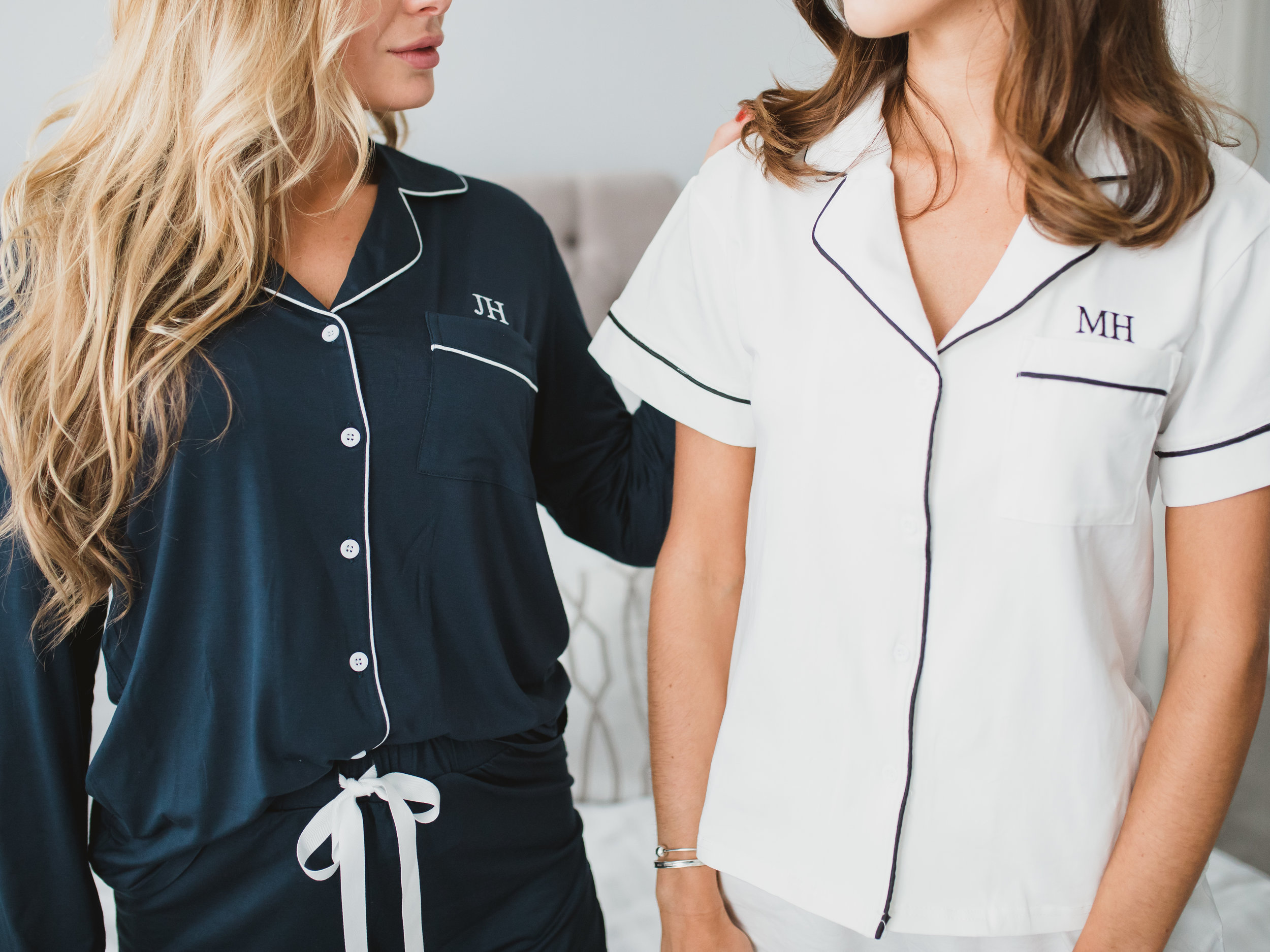 Make it personal… - All of our pyjamas, robes and loungewear can be personalised with your name, initials or favourite quote.