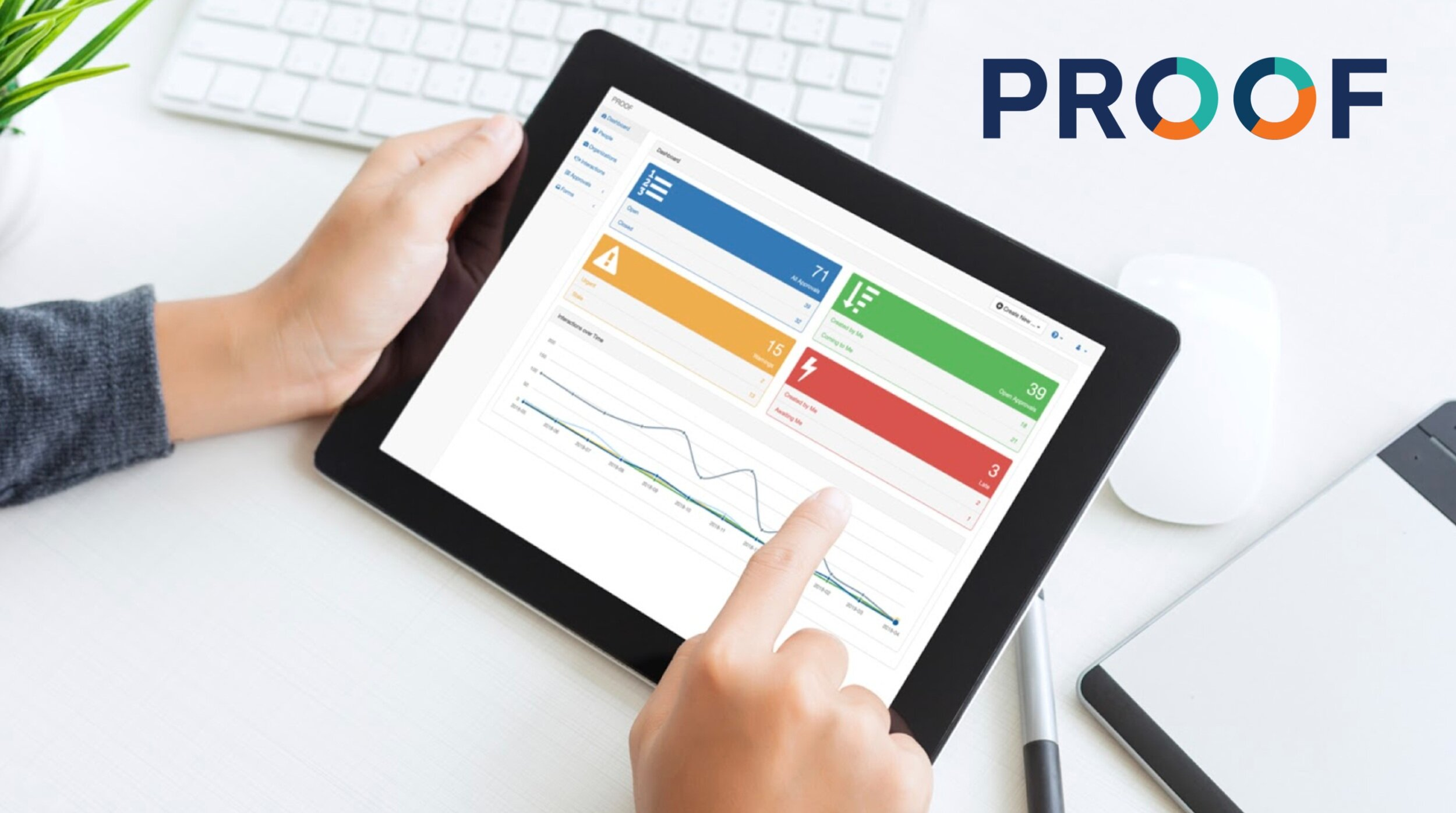 Proof's smart workflow management software offers a host of features. -