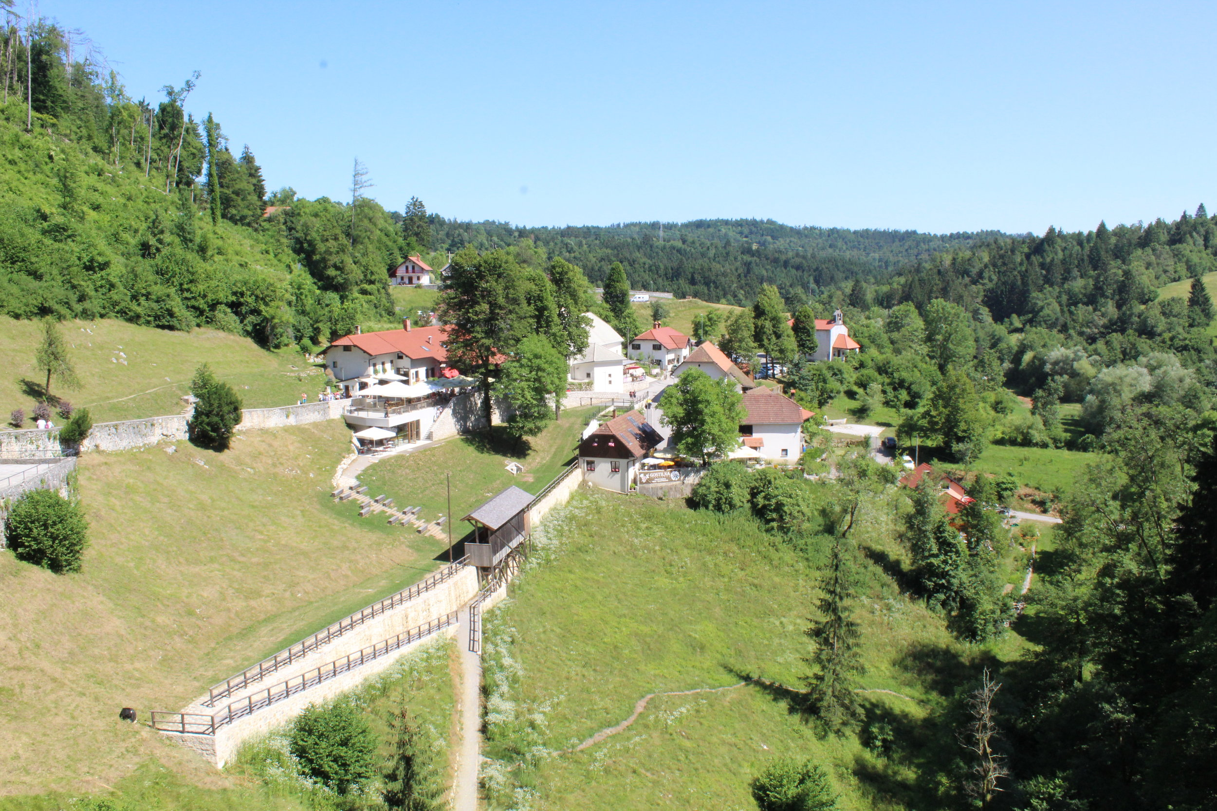 Picture of the surrounding town from inside the castle