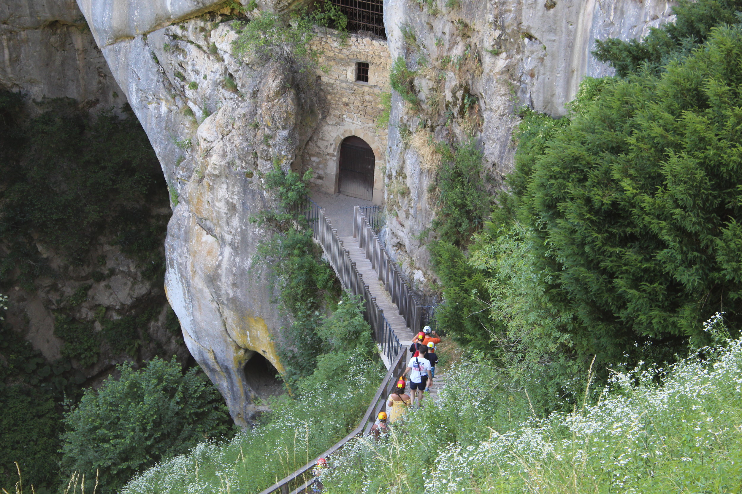The cave system below the castle