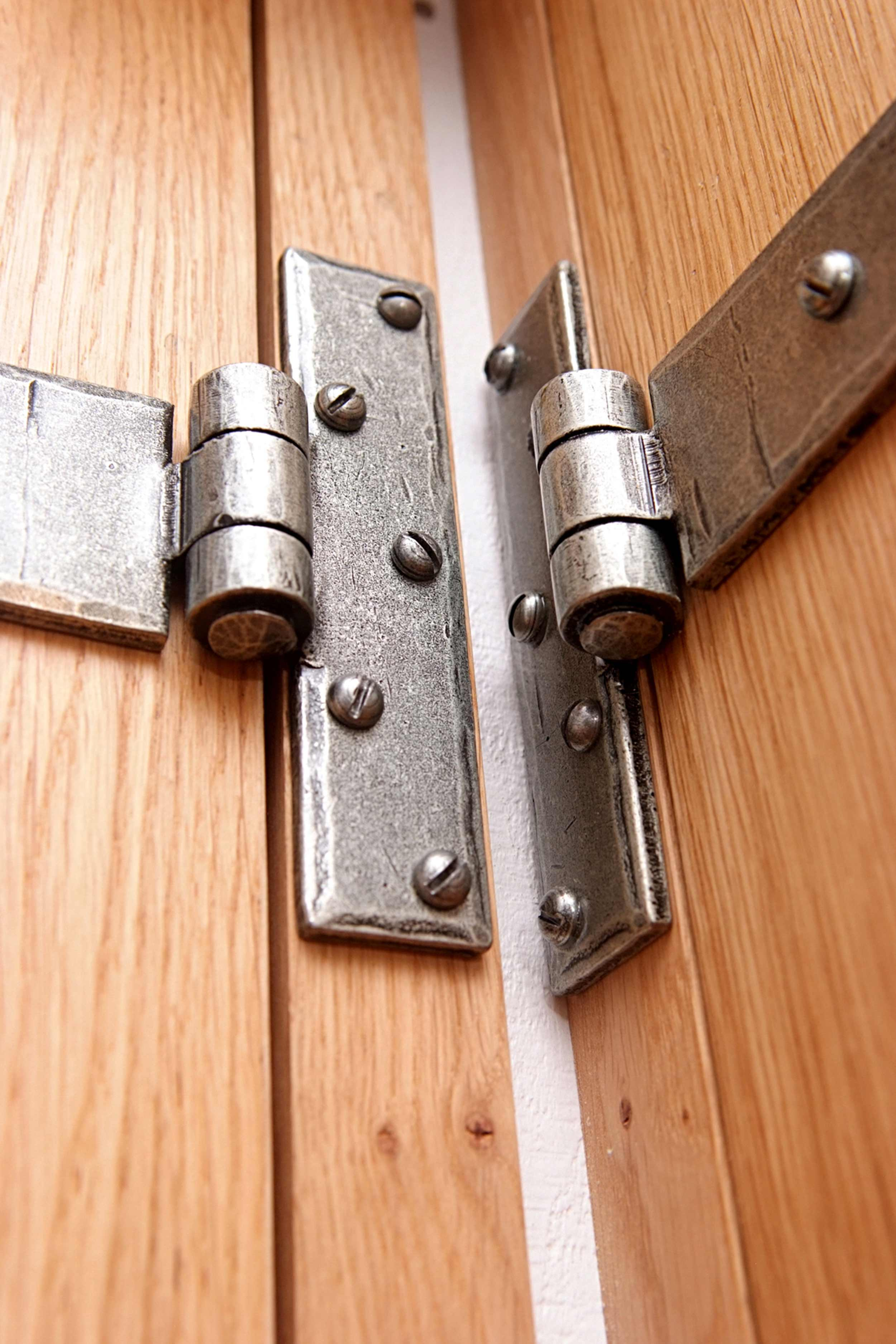 Shepherds Hut Forged Iron Door Hinge Details