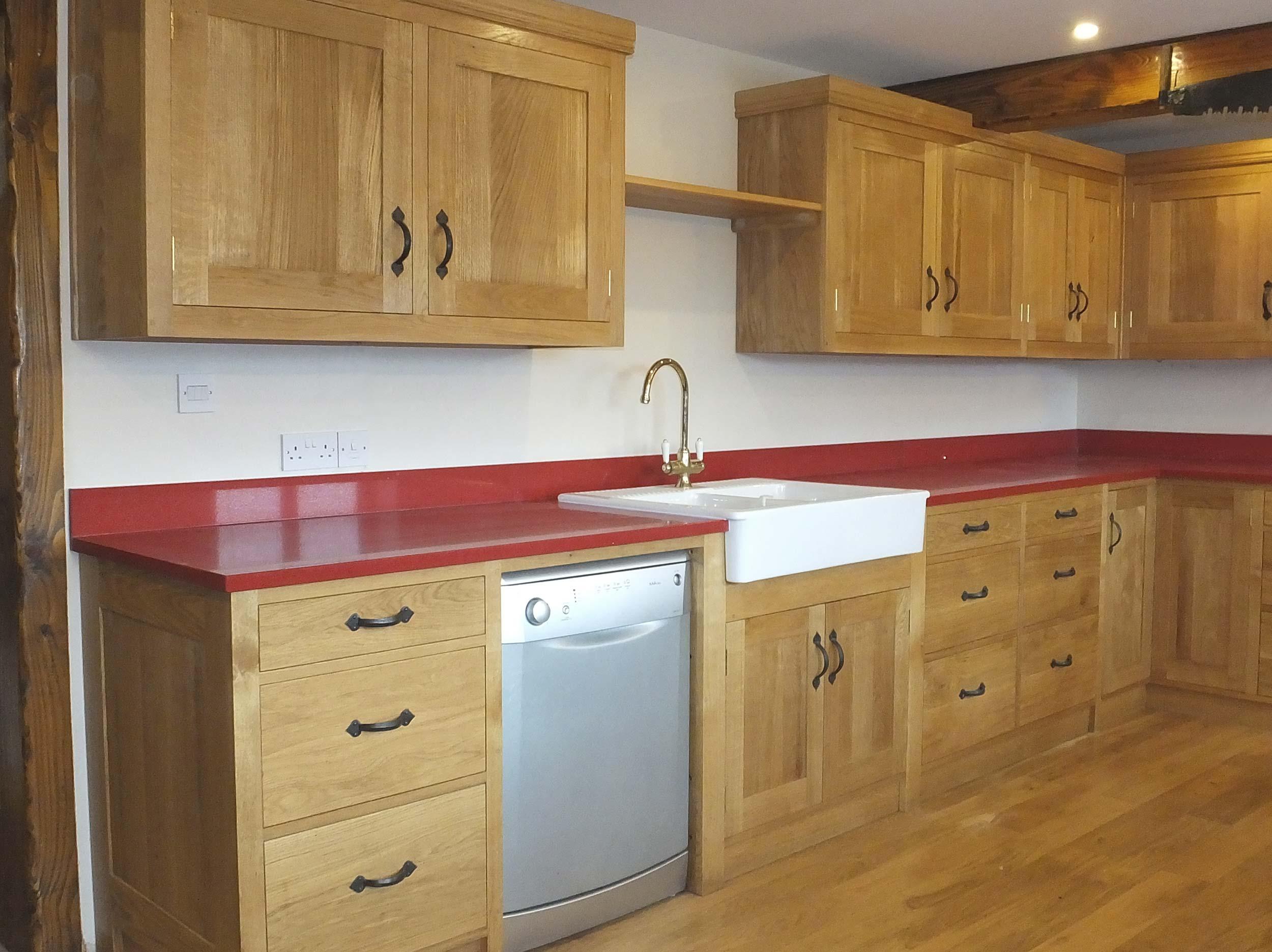 European Oak Kitchen with Composite Worktops