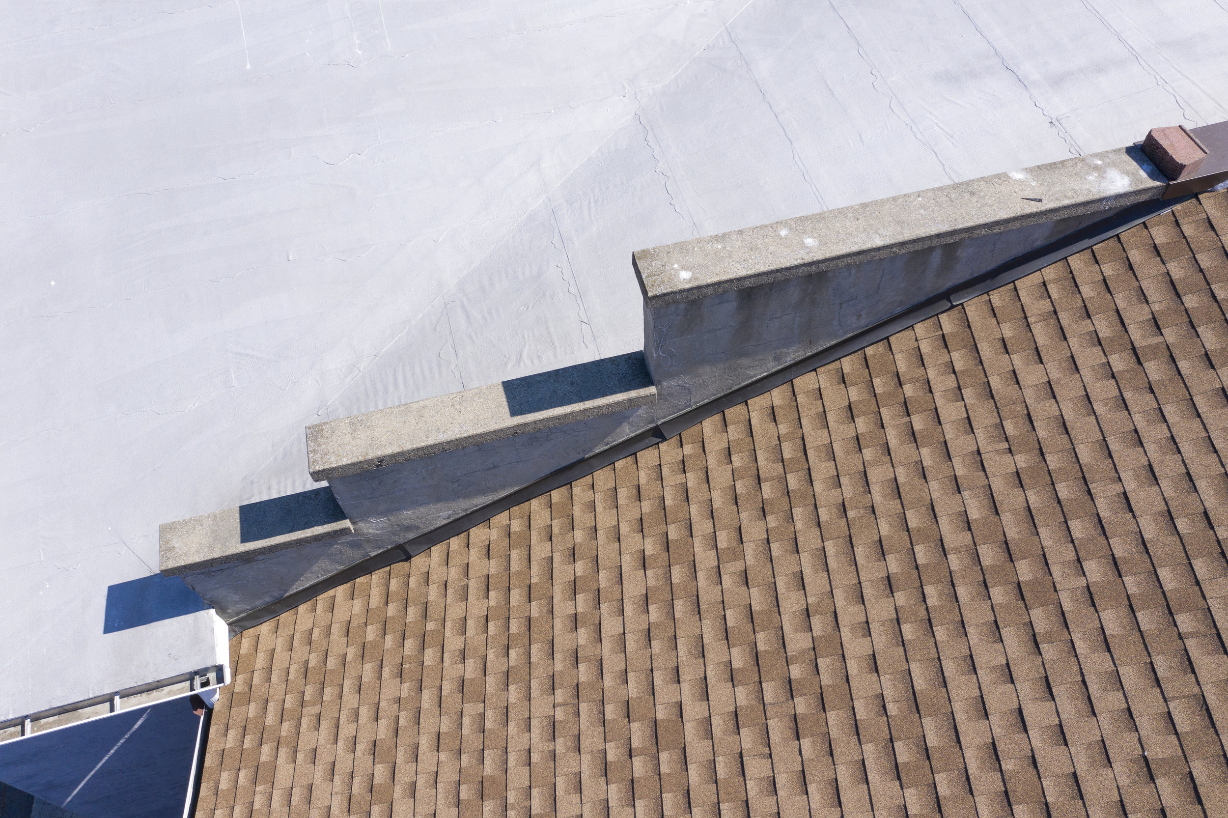 - Commercial roof inspection detail