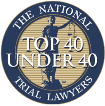 """Recognized in the National Trial Lawyers """"Top 40 Under 40"""" in 2015, 2016, 2017, & 2018"""