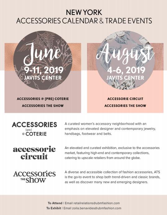 Javits Center Calendar 2019 Events — Accessories Council