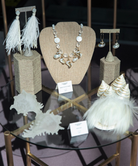 Shells and mother-of-pearl get the high-fashion treatment in the trend display.