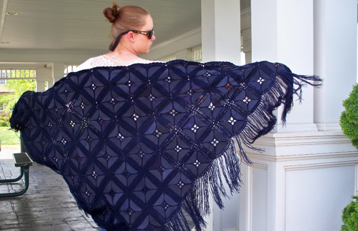 Leather Wraps shawl