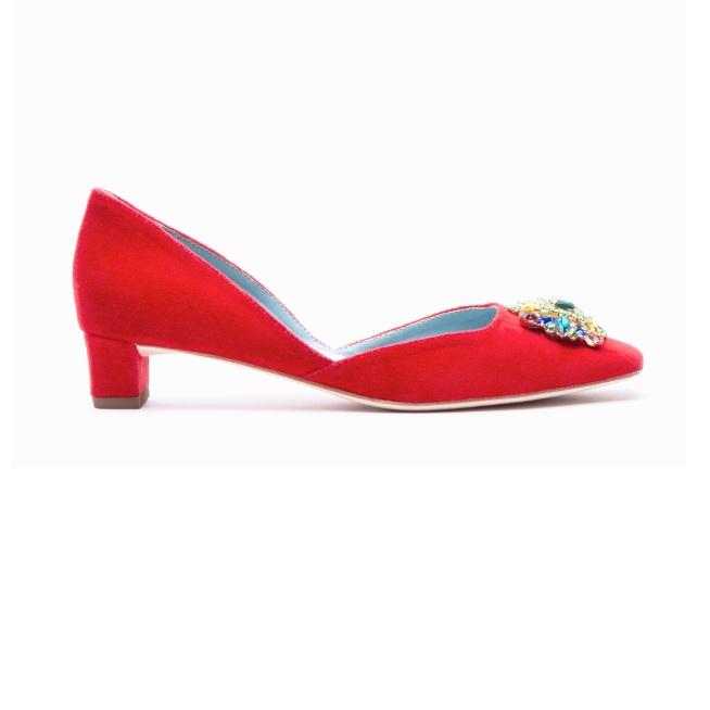 Frances Valentine - McCall Jeweled Velvet Heels