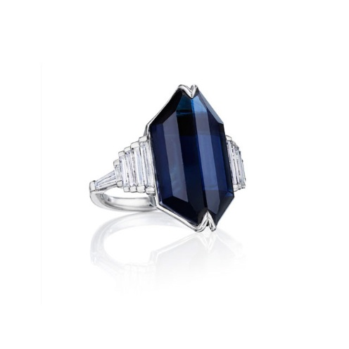 Doryn Wallach Jewelry - Sapphire and Diamond Cocktail Ring