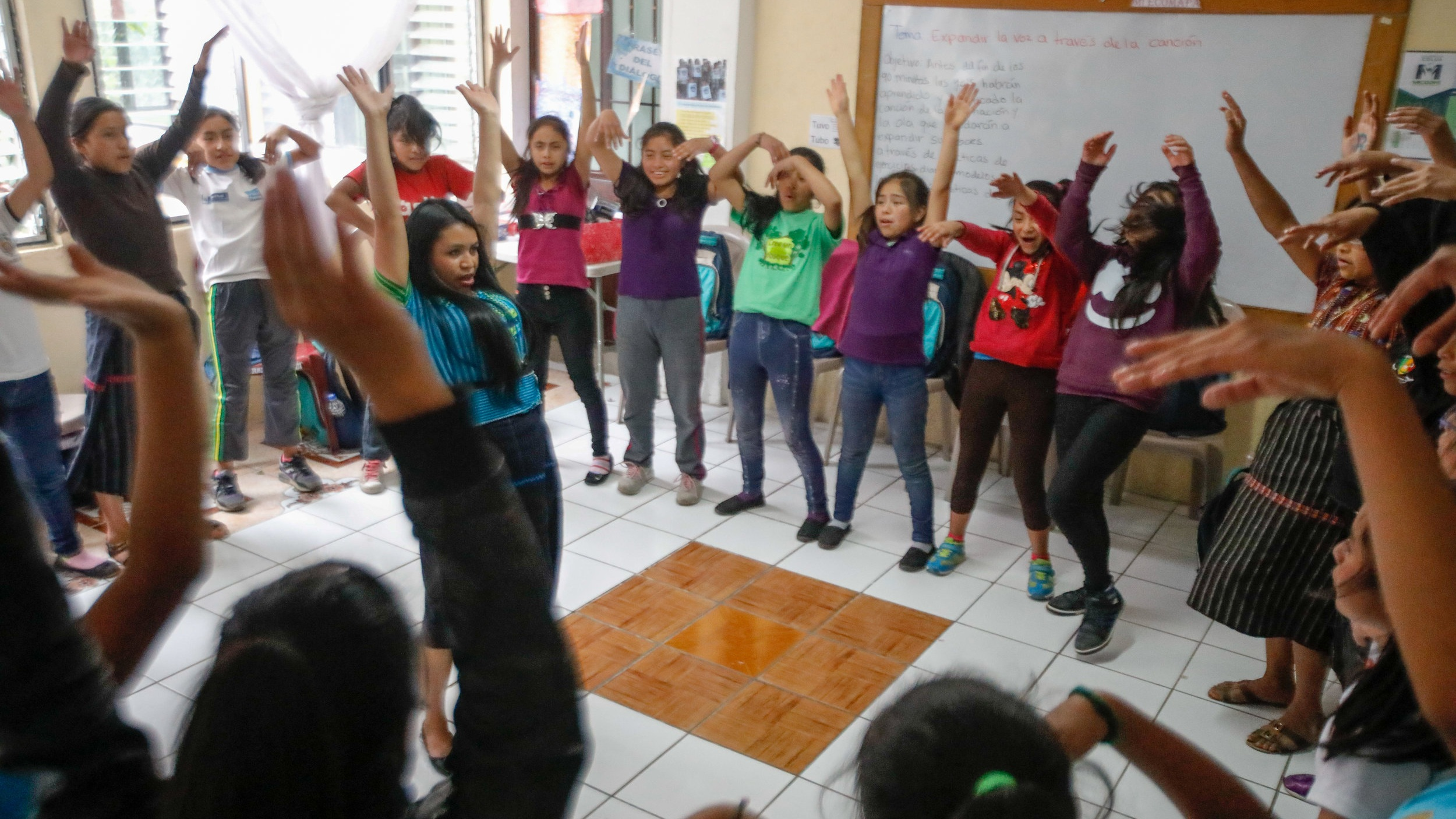 Irma's mentorship class at the impact school