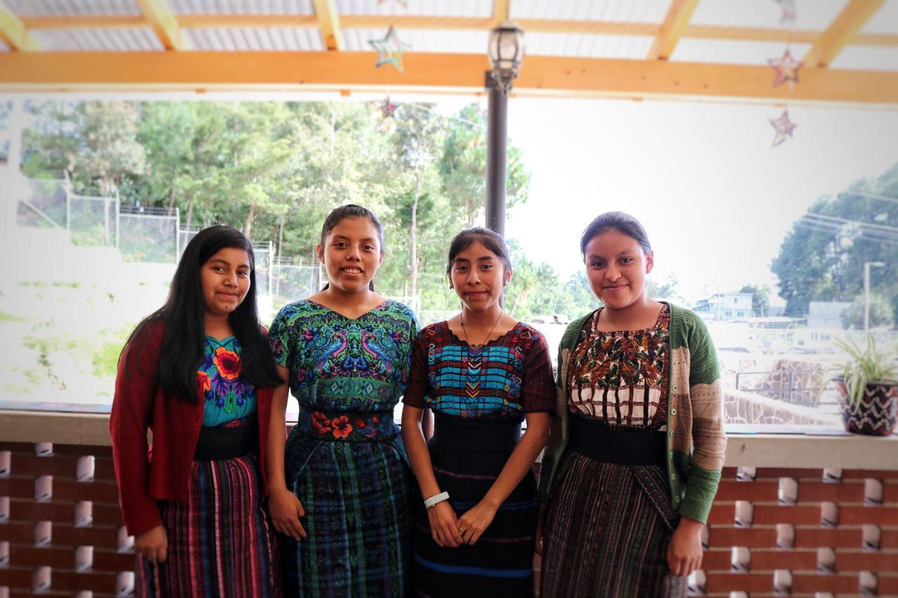 Girl Pioneers running for Student Government at the MAIA Impact School (left-right: Marlin, Norma, Claudia Marisol, Yessica Maria)