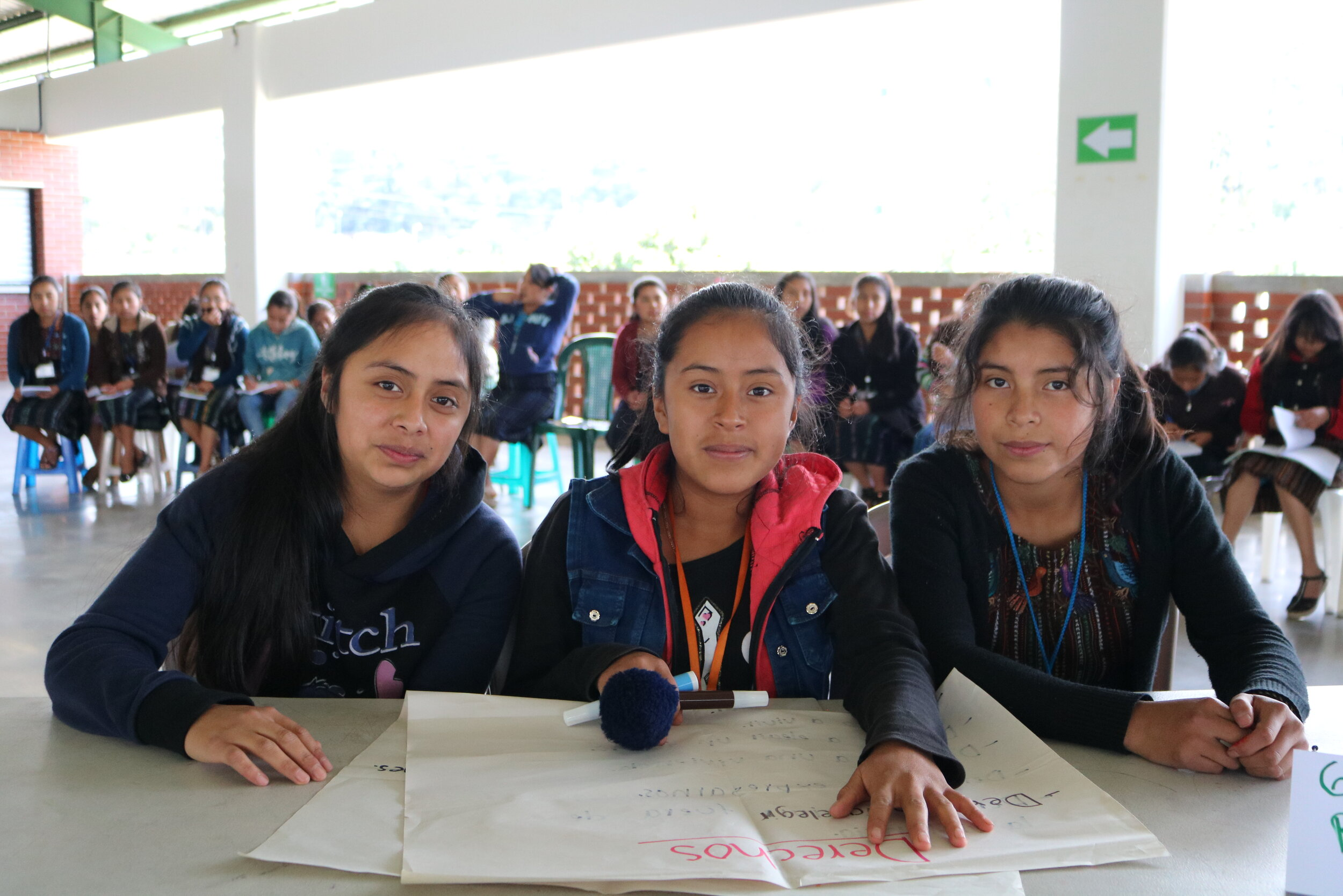 Girl Pioneers during the Girls' Bill of Rights activity at the MAIA Impact School
