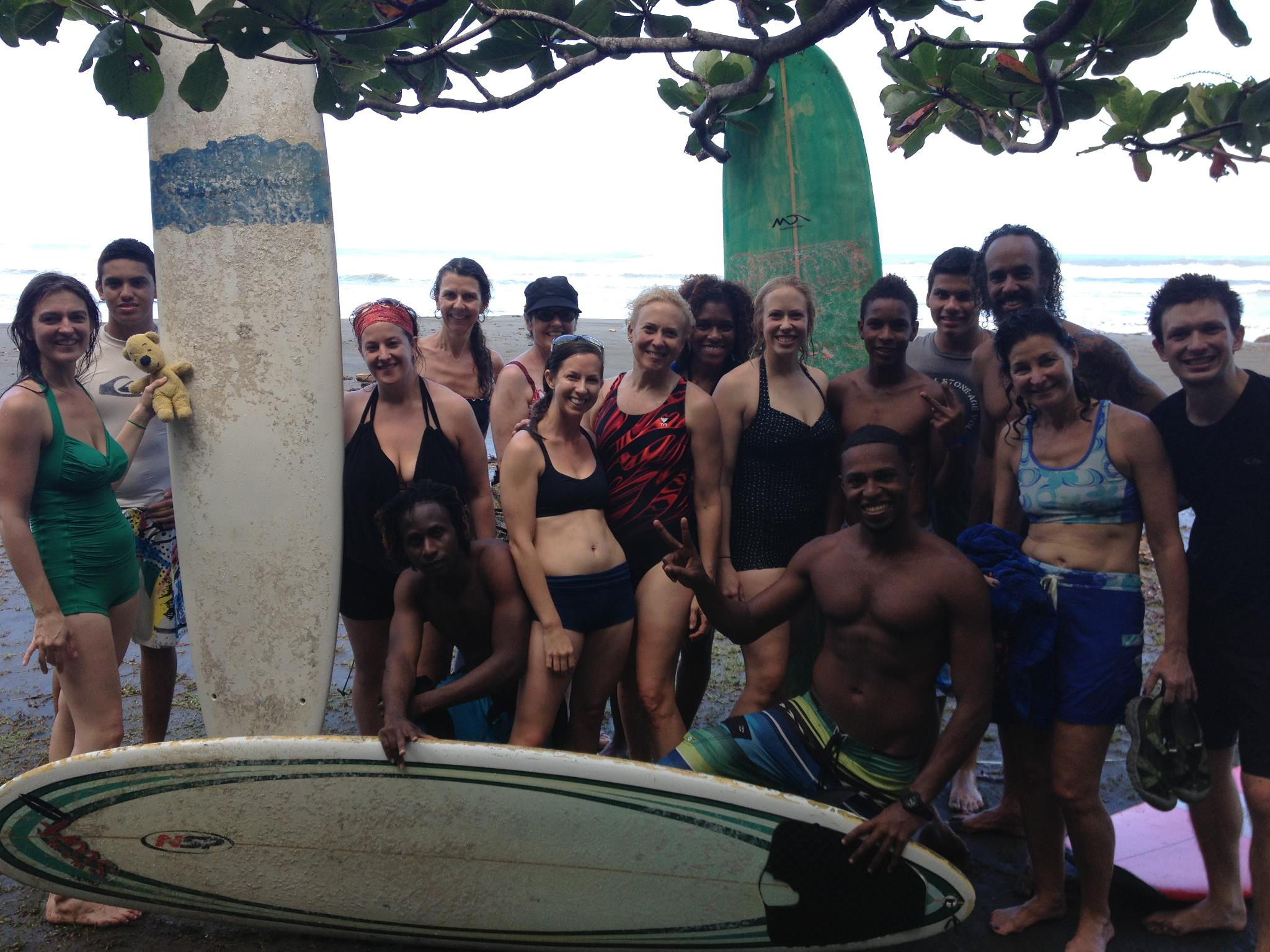 Leading a retreat in Costa Rica.