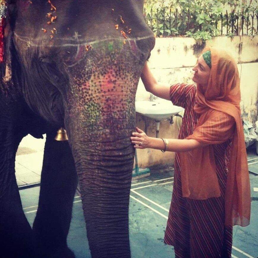 Meeting Ganesha in India. (2011)