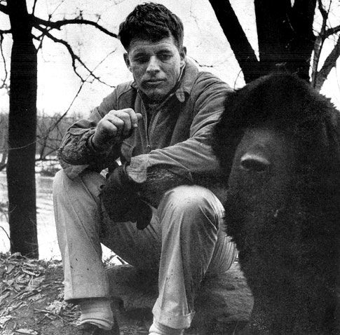 Bobby on the C&O Canal with beloved pet Brumis. Photo: Life Magazine - February 22, 1963.
