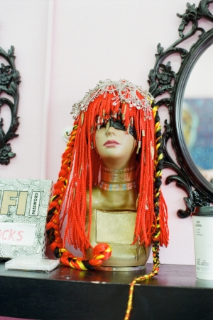 """""""Firefox"""" a braided wig made by Susan Oludele"""