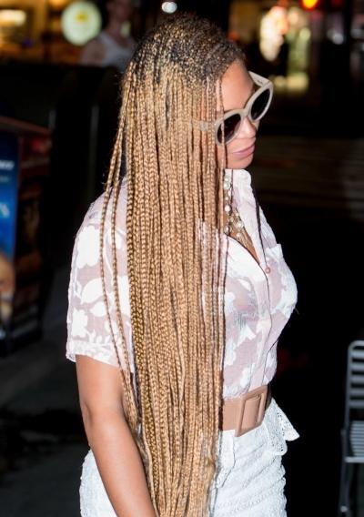Beyonce rocking the Lemonade braids by Susan Oludele