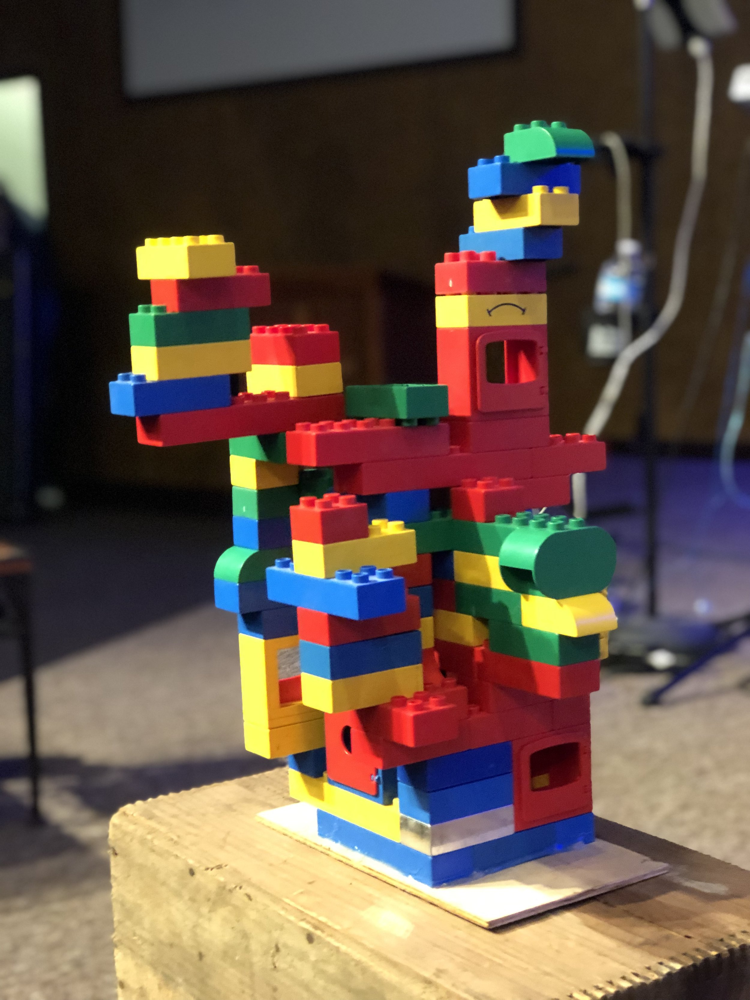 the church represented by legos