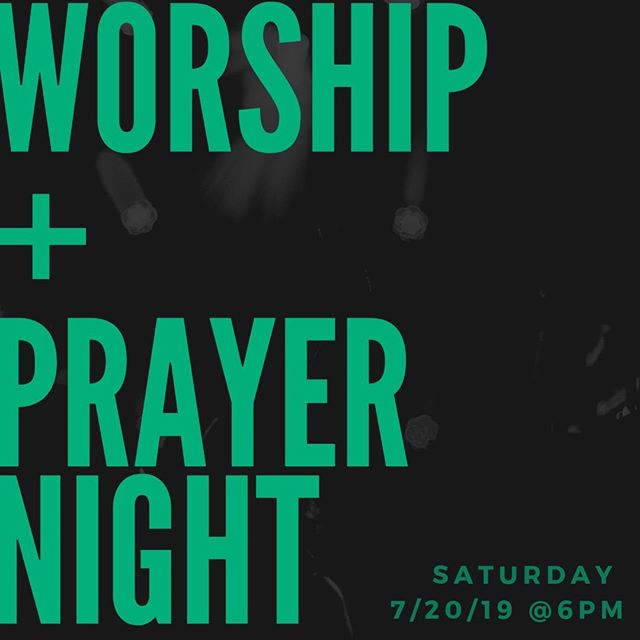 SAVE the DATE + Invite a friend to join you for a powerful night of worship and prayer @ AZV NEXT Saturday July 20th @ 6pm! ⁠ ⁠ #NightofWorship⁠ #GoodyearChurch⁠ #YOUMATTER