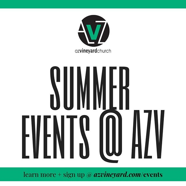 So many exciting things happening @ AZV! ⁠ ⁠ Check out the EVENT link in bio for more information!