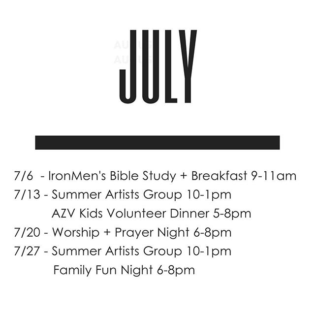 Summer events comin' in HOT here at AZV! ⁠ ⁠ Which event are you most excited about?
