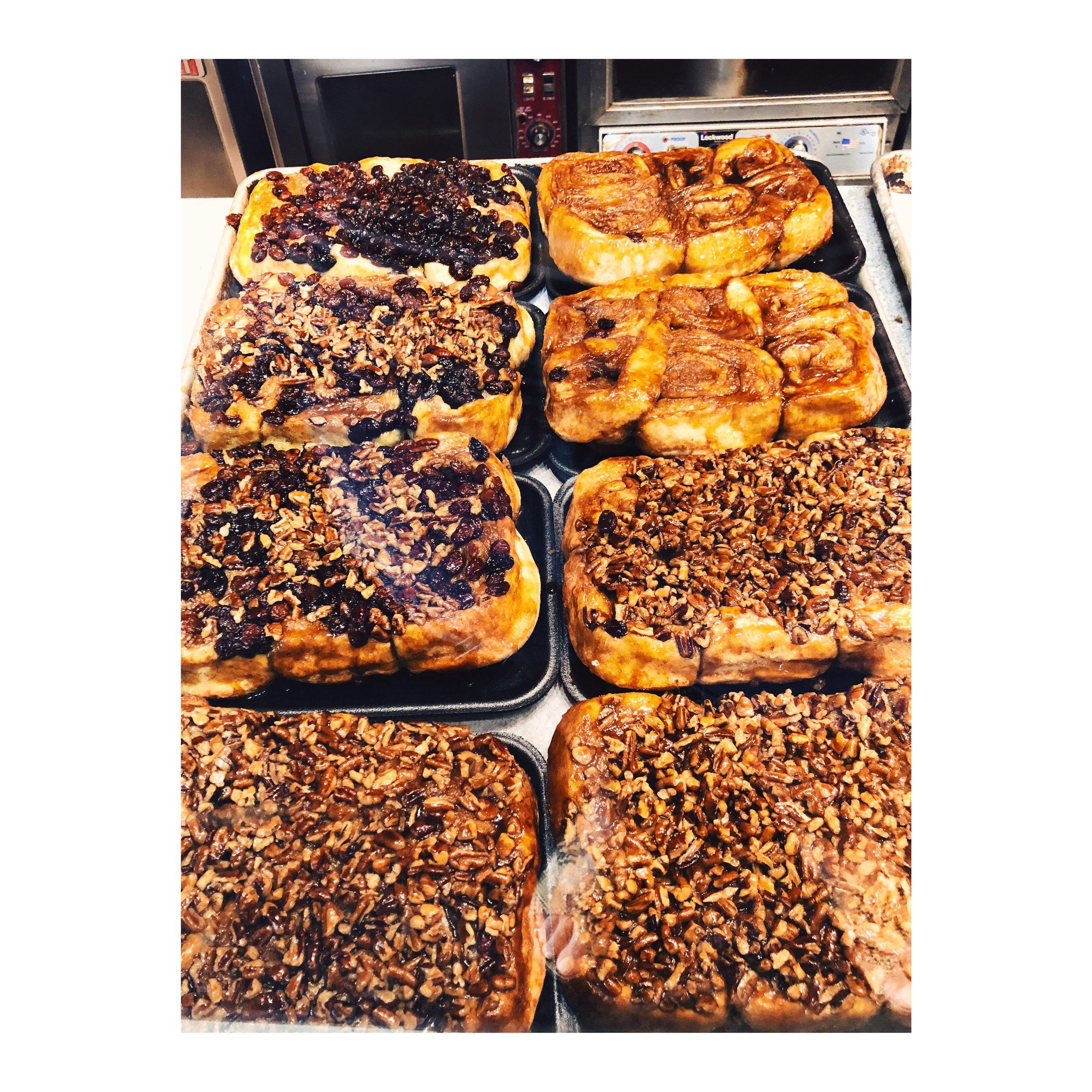 Cinnamon and raisin buns