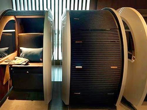 Sleep Pods at Dubai International Airport Lounge (Image Courtesy of Priority Pass)
