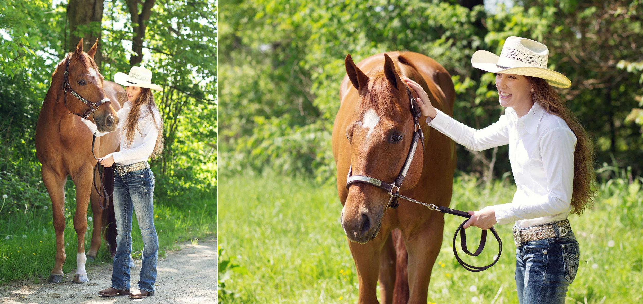 Senior with Horse | Kelly Rhoades Photography