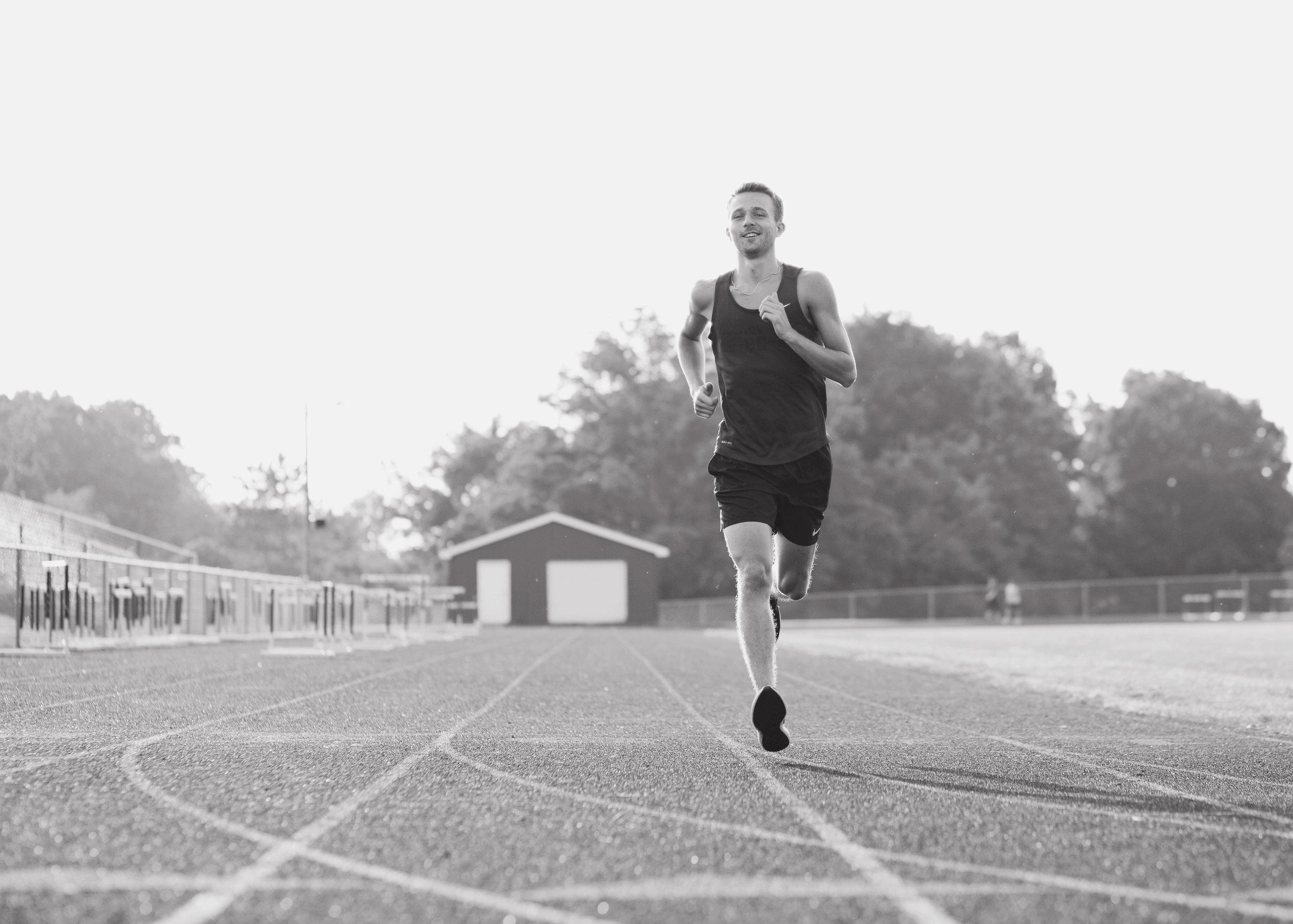 Track Senior Session | Kelly Rhoades Photography