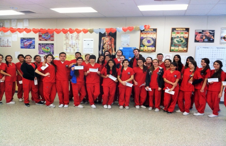 Graduating class from the Heart2Heart training program at Palm Desert High School, Palm Desert, California.